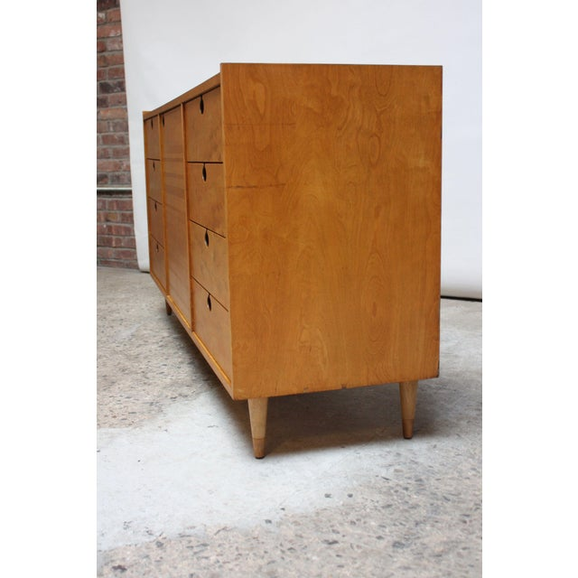 Edmond J. Spence Edmond J. Spence Sideboard in Maple and Brass For Sale - Image 4 of 11