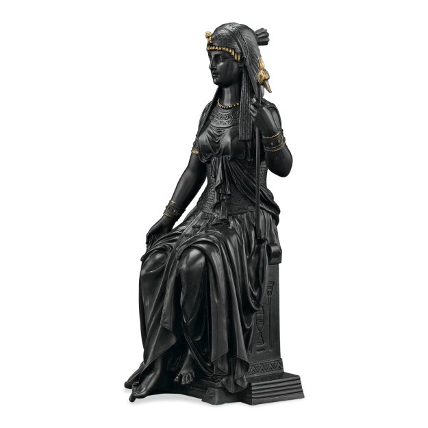 Bronze Isis by Emile-louis Picault For Sale In New Orleans - Image 6 of 7