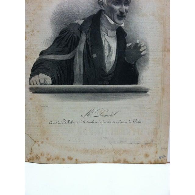 "English Traditional Vintage French ""Mr. Dumeril"" Couis De Pathologie Lithograph For Sale - Image 3 of 6"
