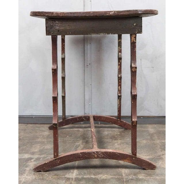 Unique American Folk Art Table, circa 1890's For Sale - Image 4 of 7