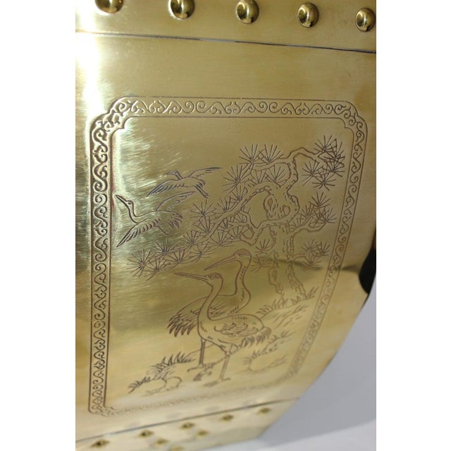 Mid-Century Chinese Brass Garden Seat Stool For Sale - Image 9 of 13