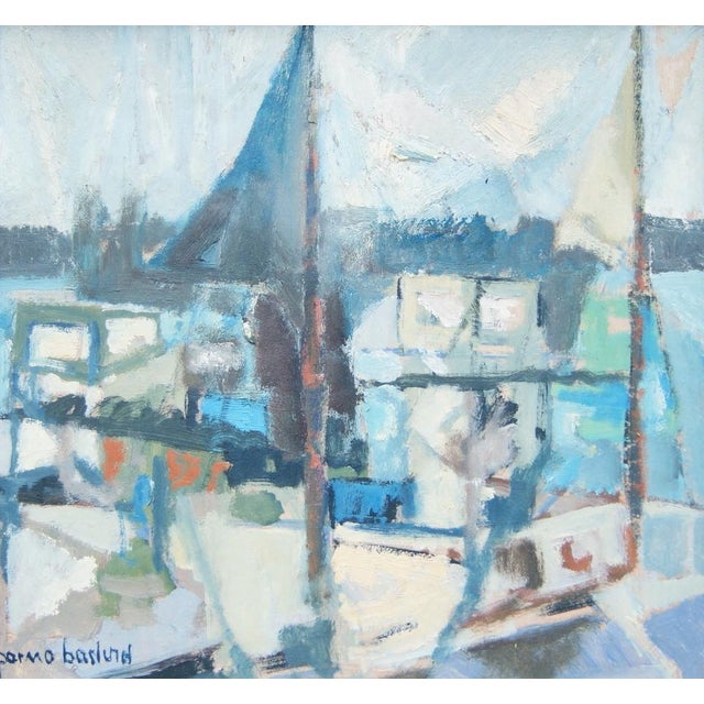 """""""Portscape"""" Painting by Parmo Baslund - Image 5 of 5"""