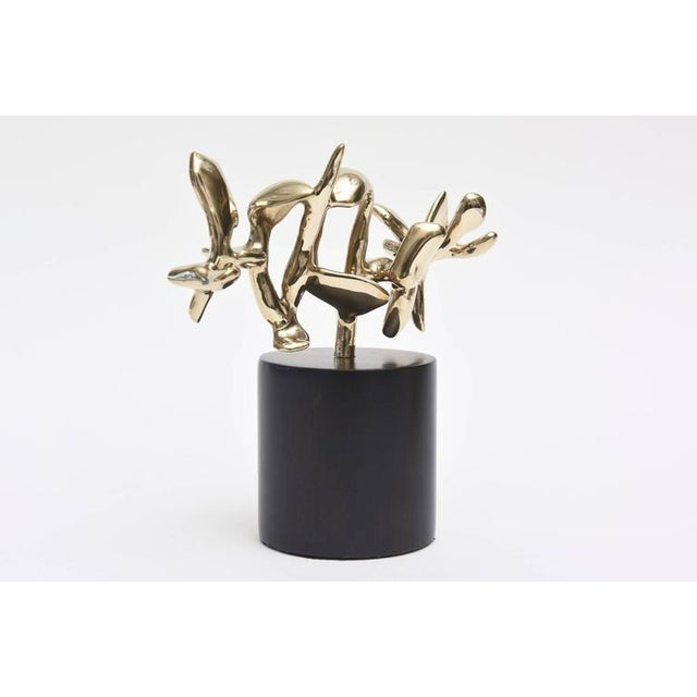 Signed Karpel Bronze Abstract Sculpture - Image 3 of 11