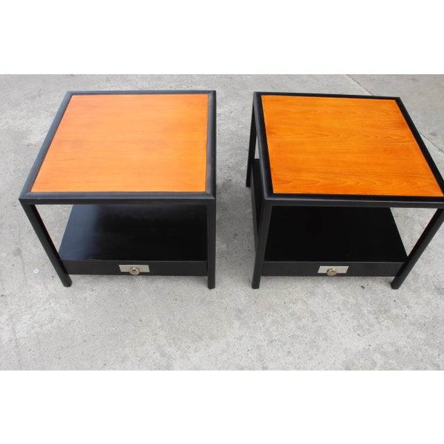 Mid-Century Baker Walnut End Tables - a Pair For Sale - Image 9 of 13