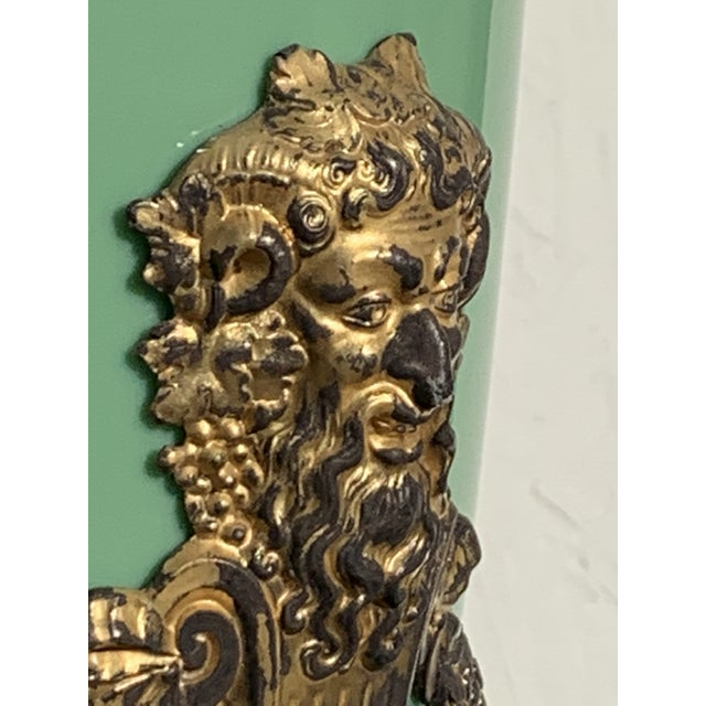 Mid 19th Century Green English Gilt Bronze Lamp For Sale - Image 10 of 11