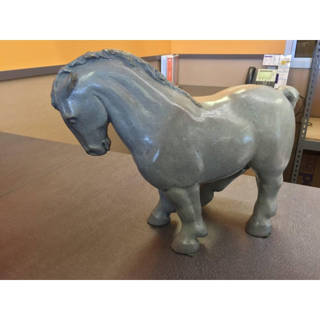 Lee Andreason Bronze Bucephalus Sculpture For Sale - Image 9 of 9