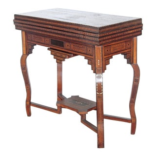 ANTIQUE SYRIAN FOLDING GAMES TABLE