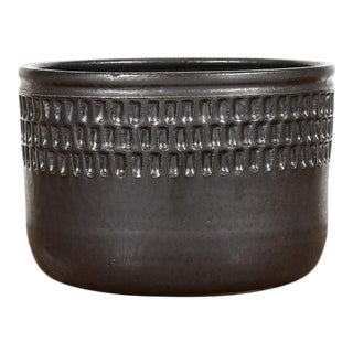 Black Ceramic Stoneware Planter For Sale