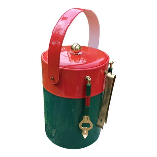 Vintage Georges Briard Holiday Ice Bucket With Tools For Sale