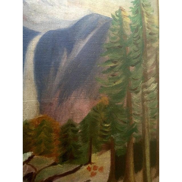 1940's Primitive Landscape Painting - Image 5 of 6