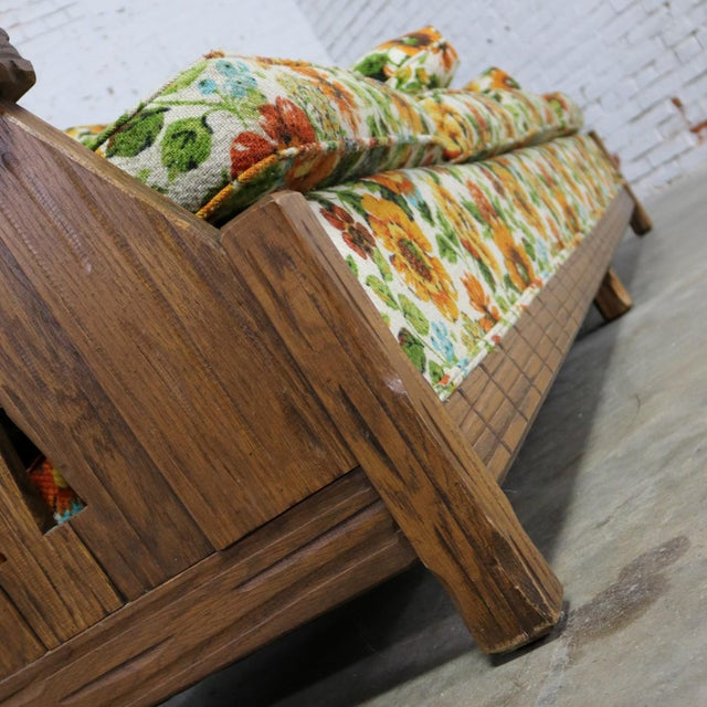 Ranch Oak Western Style Sofa Attributed to A. Brandt Company For Sale - Image 11 of 13