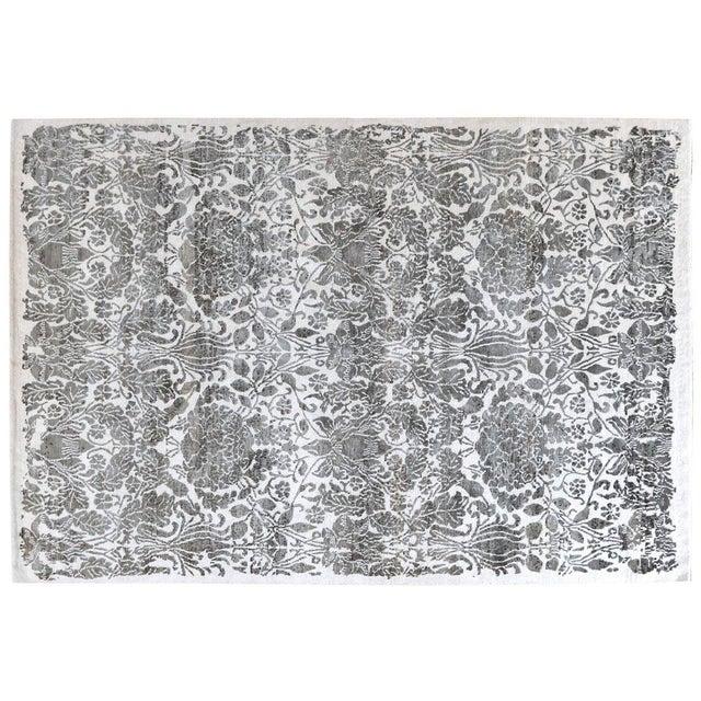 Stark Studio Rugs Contemporary Danica Silk Rug - 6′1″ × 9′1″ For Sale