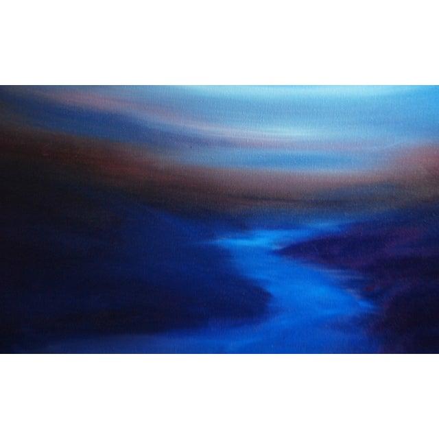 """Gentle Dusk"" Abstract Landscape Original Oil on Canvas - Image 2 of 3"