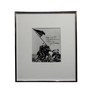 "Joe Rosenthal ""Raising of the Flag"" Silver Gelatin Signed Photograph, 1945 For Sale"