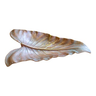 1940's Solid Bronze Virginia Metal Crafters Calla Lily Catchall For Sale