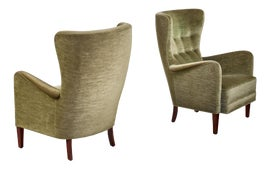 Image of Scandinavian Modern Club Chairs