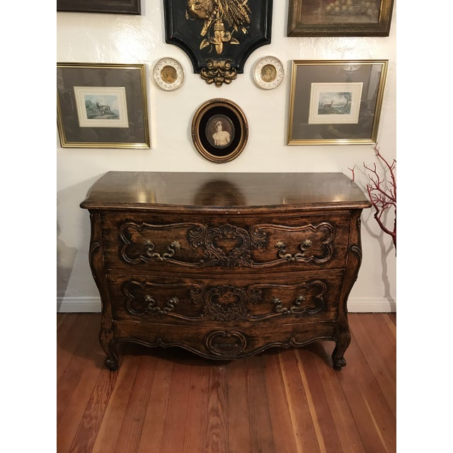 French 18th Century Style Carved French Provincial Dresser For Sale - Image 3 of 13
