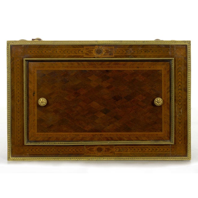 Antique French Marquetry Wine Serving Accent Table by Paul Sormani & Fils For Sale - Image 9 of 13