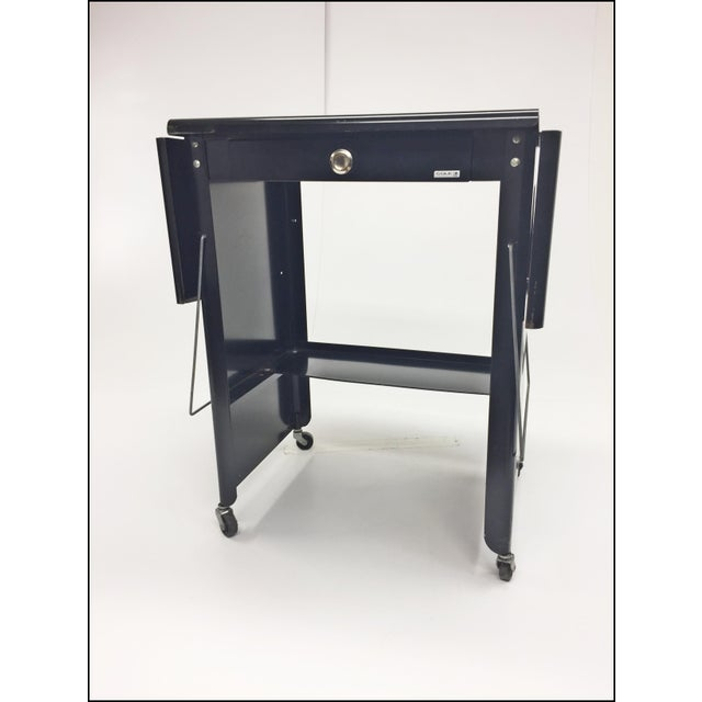 Vintage Industrial Black Typewriter Table With Double Drop Leaf by Cole Steel For Sale - Image 13 of 13