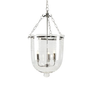 Chelsea House Three Light Pendant With Nickel Finish For Sale