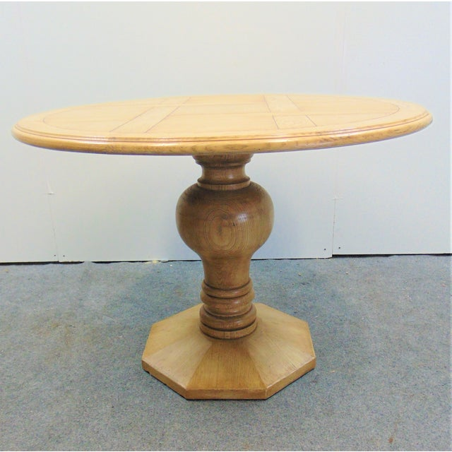 Country French Cursed Oak Dining Tbale For Sale In Philadelphia - Image 6 of 6