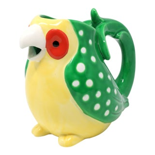 """Vintage 1979 Fitz and Floyd """"Caribbean Parrot"""" Pitcher For Sale"""