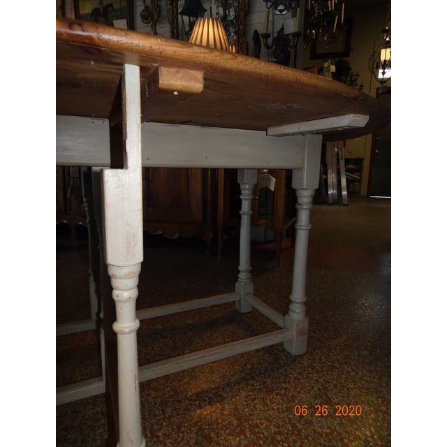 19th Century Swedish Peach Pine Dining Table For Sale - Image 10 of 13