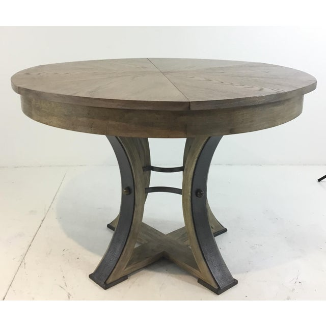 Sarreid Co. Modern Tower Jupe Extendable Gray Wood Dining Table For Sale In Atlanta - Image 6 of 6
