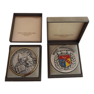 Paray-Vielle-Poste Medallions - a Pair