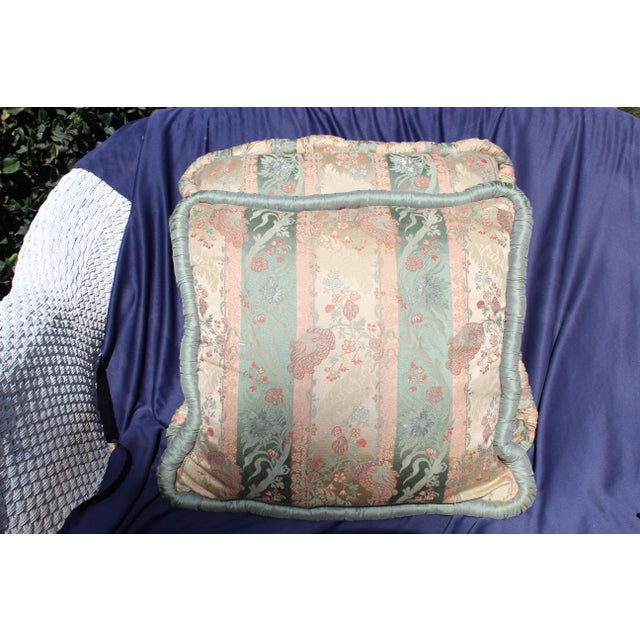 20th C. Two Difrernt Size of Possibly Italian Scalamandre Pillow For Sale - Image 10 of 10