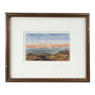 19th C. English Watercolor Landscape Painting For Sale