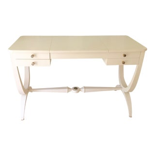 Contemporary Nina Campbell 'Joan' Dressing Table in Cream Crackle For Sale