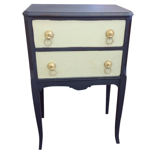Two Toned Side Table - Image 1 of 8