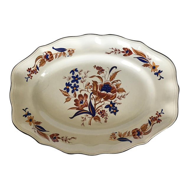 """French Faience Luneville """"Paquerette"""" Serving Dish For Sale"""