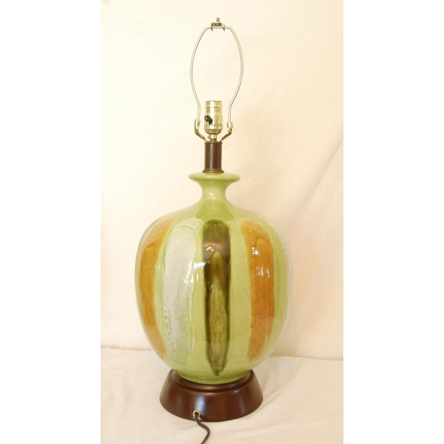 Mid-Century Modern Green Table Lamps - A Pair - Image 6 of 6