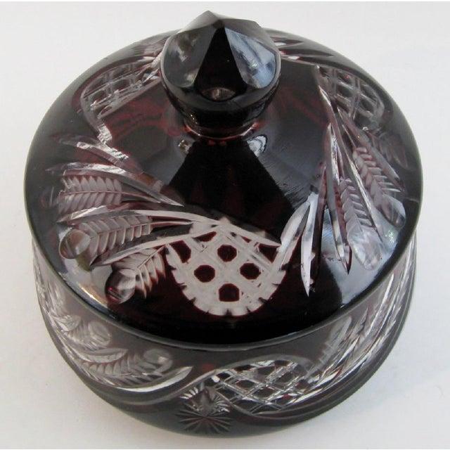 Bohemian Glass Bonbonniere For Sale - Image 4 of 6