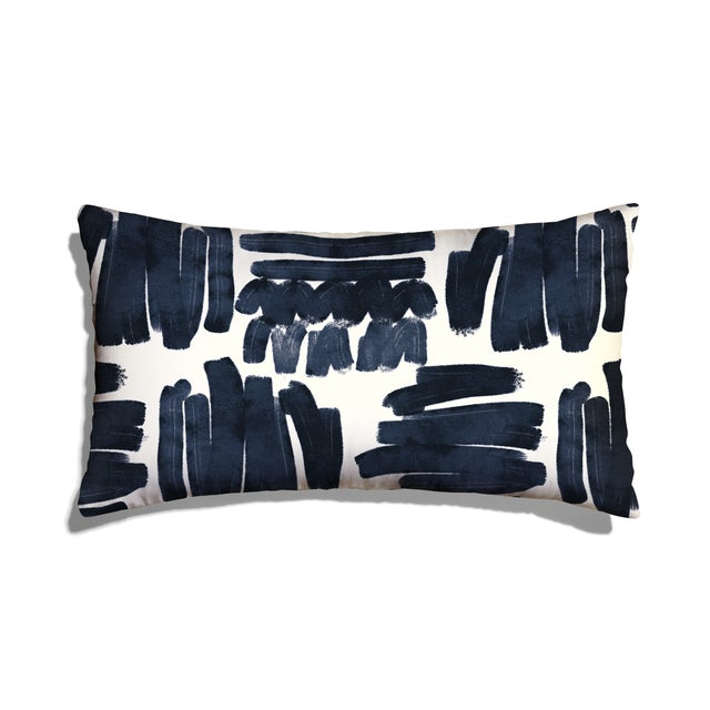 Abstract Pepper Warby Lumbar Pillow For Sale - Image 3 of 3