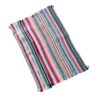 Vintage Striped Accent Rug For Sale