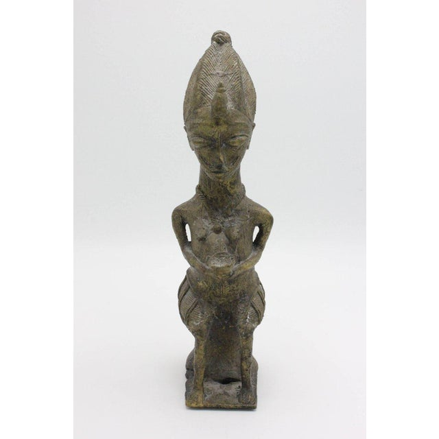 Brass Yoruba Brass Figures for the Ogboni Cult, Nigeria - a Pair For Sale - Image 7 of 13