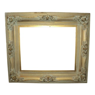 Antique Gold Gilded Decorated Wooden Picture Frame For Sale