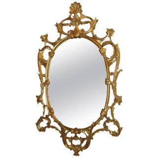 Italian Giltwood Framed Wall Mirror For Sale