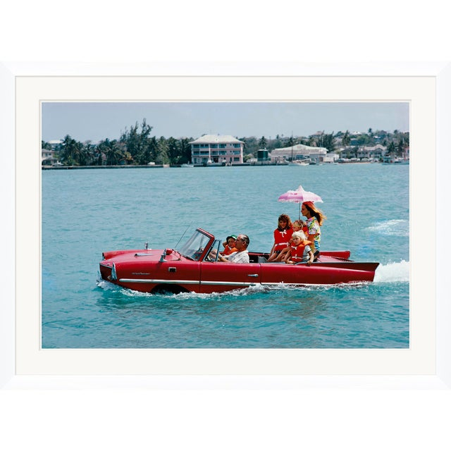 "Slim Aarons Slim Aarons, ""Sea Drive,"" January 1, 1967 Getty Images Gallery Framed Art Print For Sale - Image 4 of 5"
