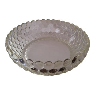 Vintage Mid-Century Pressed-Glass Serving Bowl For Sale