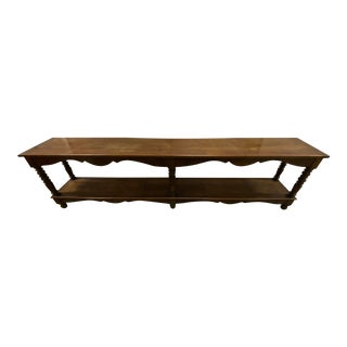 Rustic Large Reclaimed Sofa/Console Table For Sale