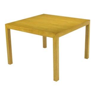 Edward Wormley For Dunbar Bleached & Glazed Walnut Parsons End Table. For Sale
