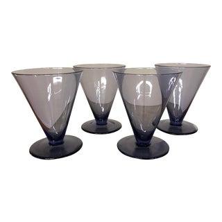 Vintage Purple Cocktail Glasses by Calvin Klein - Set of 4 For Sale
