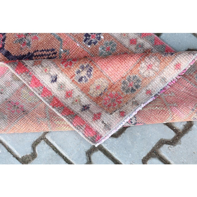 Textile 1960's Vintage Turkish Hand-Knotted Long Runner-2′9″ × 15′1″ For Sale - Image 7 of 11
