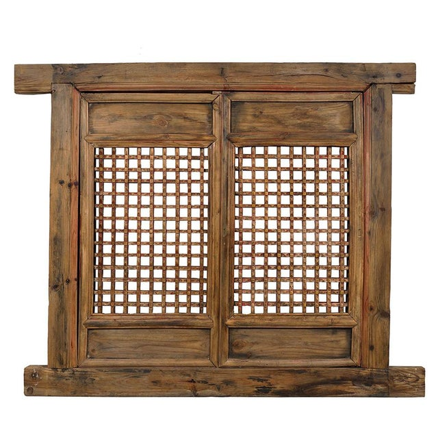 Antique Chinese Framed Window Panel For Sale - Image 11 of 11