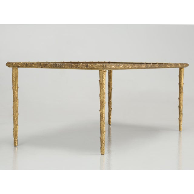 French Baguès Solid Bronze Gilt Coffee Table For Sale - Image 3 of 13