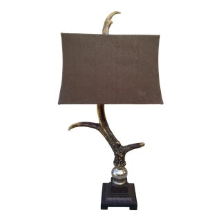 Uttermost Faux Deer Antler Table Lamp For Sale